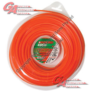 "DIAMOND EDGE TRIMMER LINE .095"" / 2.40MM DONUT LENGTH 76M"