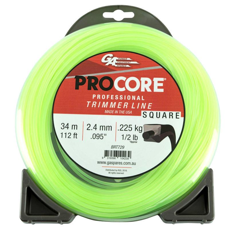 GA PROCORE TRIMMERLINE SQUARE GREEN .095 2.4MM 1/2 LB 34M DONUT