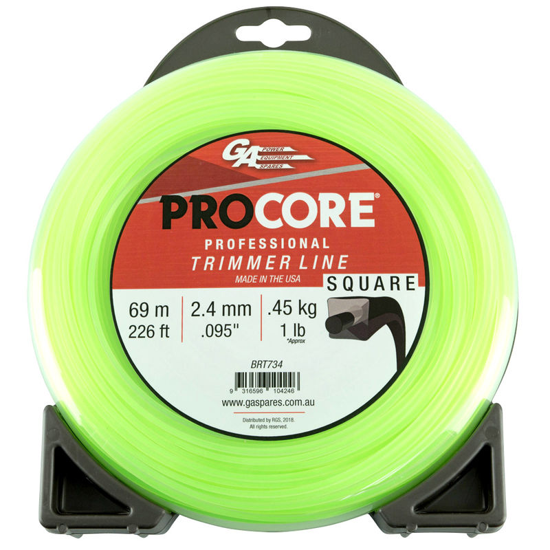 GA PROCORE TRIMMERLINE SQUARE GREEN .095 2.4MM 1 LB 69M DONUT