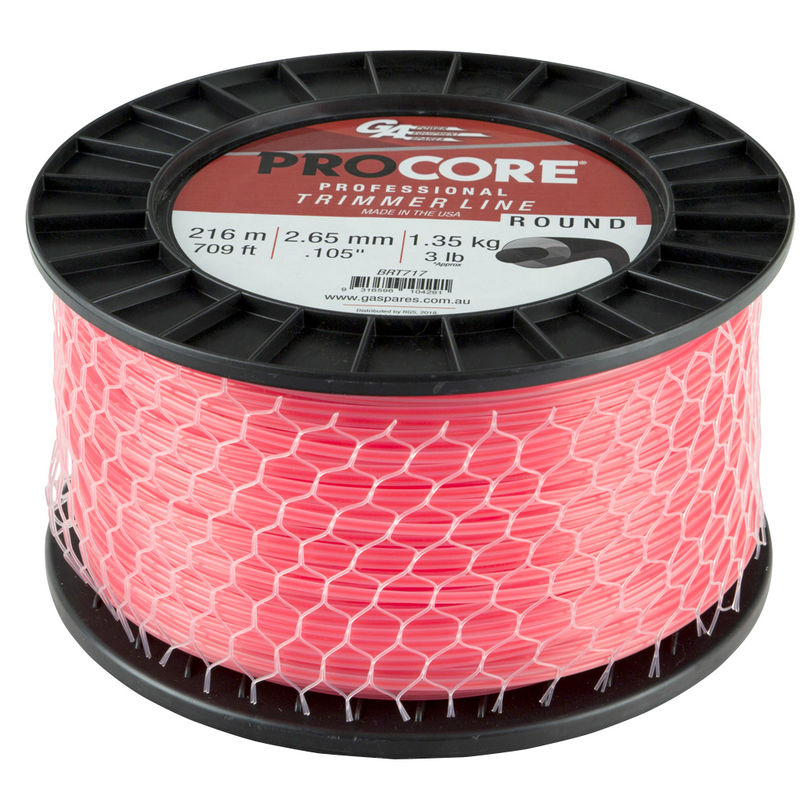 GA PROCORE TRIMMERLINE ROUND PINK .105 2.65MM 3LB 216M SPOOL