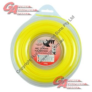 """PRO FIT TRIMMER LINE YELLOW .105"""" / 2.75MM DONUT LENGTH 38M"""