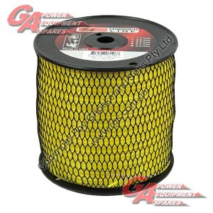 """PRO FIT TRIMMER LINE YELLOW .105"""" / 2.75MM SPOOL LENGTH 232M"""