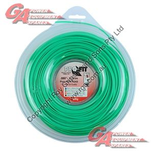 "PRO FIT TRIMMER LINE GREEN .080"" / 2.00MM DONUT LENGTH 135M"