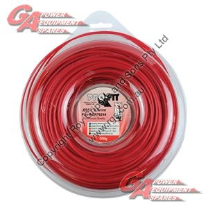 """PRO FIT TRIMMER LINE RED .095"""" / 2.50MM DONUT LENGTH 96M"""