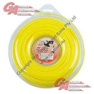 "PRO FIT TRIMMER LINE YELLOW .105"" / 2.75MM DONUT LENGTH 77M"