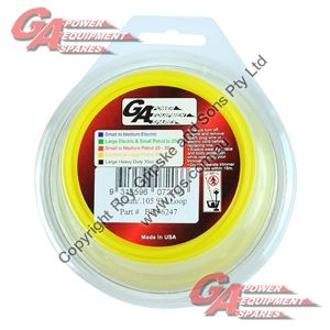"""PRO FIT TRIMMER LINE YELLOW .105"""" / 2.75MM CARDED LOOP LENGTH 10M"""