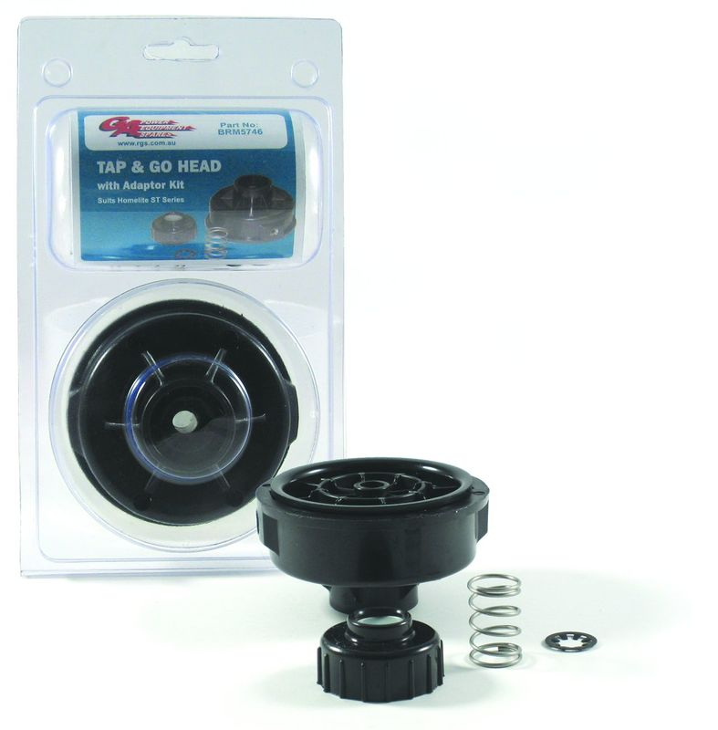 HOMELITE TAP & GO DUAL LINE OUTLET TRIMMER HEAD W/ RIGHT HAND BUMP KNOB