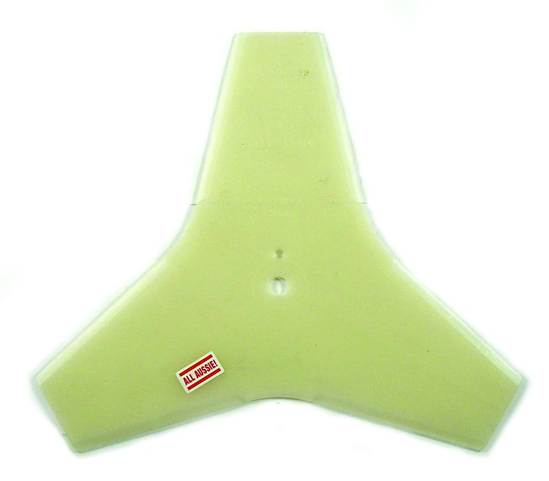 "BRUSHCUTTER BLADE PLASTIC TRIPLE CH 3/8"" SUITS BENT SHAFT"
