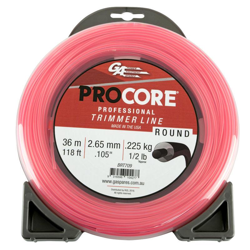 GA PROCORE TRIMMERLINE ROUND PINK .105 2.65MM 1/2 LB 36M DONUT