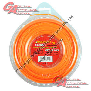 "DIAMOND EDGE TRIMMER LINE .095"" / 2.40MM DONUT LENGTH 36M"