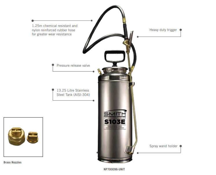 SPS Stainless Steel Concrete Water Sprayer