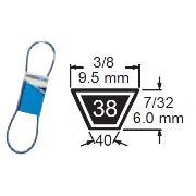 TRUE BLUE V-BELT 3/8 X 43 (M42) - SKU:238-043