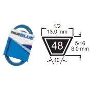 TRUE BLUE V-BELT 1/2 X 76 (A74) - SKU:248-076