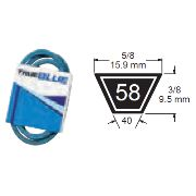 TRUE BLUE V-BELT 5/8 X 58 (B55) - SKU:258-058